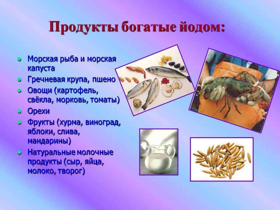 Выбираем продукты, в которых много йода