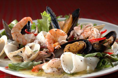Свежие морепродукты – основной источник йода