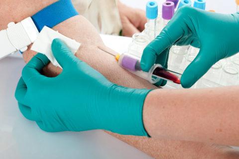 Анализы проводятся с венозной кровью