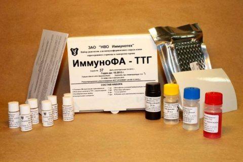 Набор для экспресс-теста на содержание ТТГ