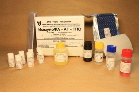 Тест-система для определения уровня антител к ТПО