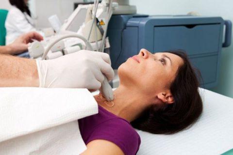 Когда диагностирована щитовидная железа киста левой доли – лечение может проводиться при помощи пункции, под контролем УЗИ