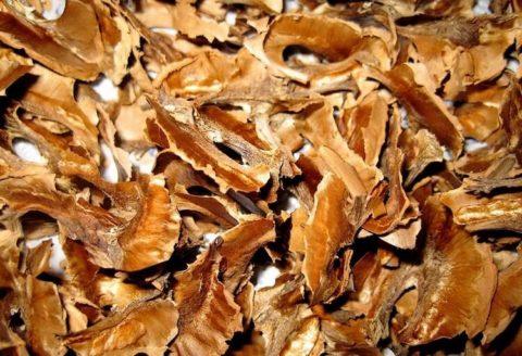Перегородки грецкого ореха, — еще одна составляющая плодов этого растения, полезная при болезнях щитовидной железы