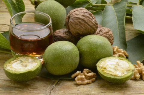 Ядра незрелых грецких орехов и мед, — сильное средство от диффузного зоба