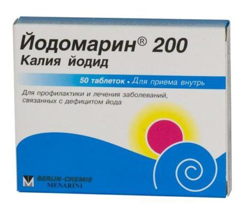 Йодомарин является одним из основных препаратов, восполняющих дефицит йода в человеческом организме