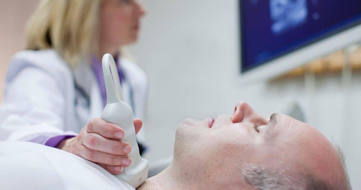 Определить точные размеры щитовидки можно на УЗИ, цена которого составляет 800 р.