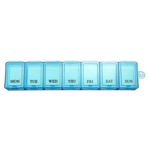 На фото представлена таблетница, для удобства расфасовки и употребления лекарственных средств.