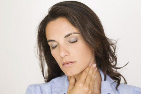 Пальпация щитовидной железы своими руками.
