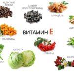 Продукты, содержащие витамин Е.