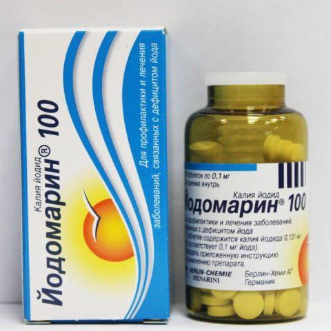 Таблетированный препарат, используемый при дефиците йода в организме пациента.
