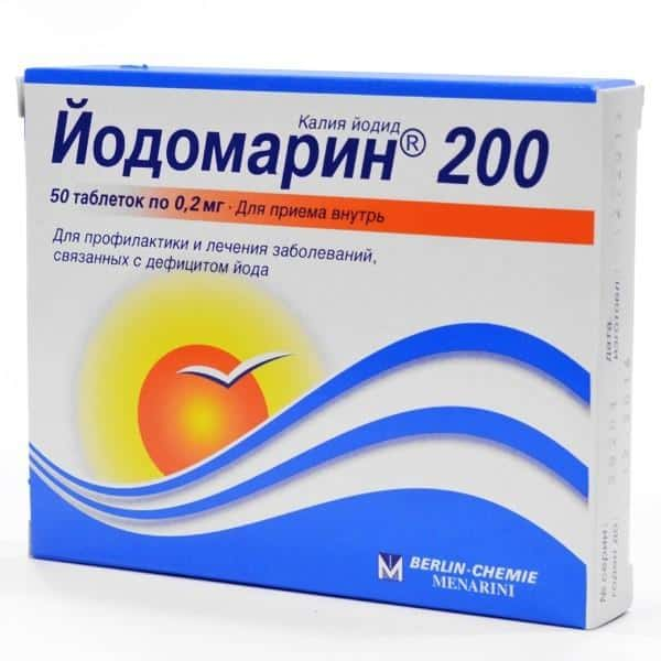 Препарат с высоким содержанием йода. В картонной коробке 50 белых таблеток по 0,2 мг.