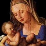 Альбрехт Дюрер «Мадонна с младенцем и грушей»: зоб ЩЖ у матери.