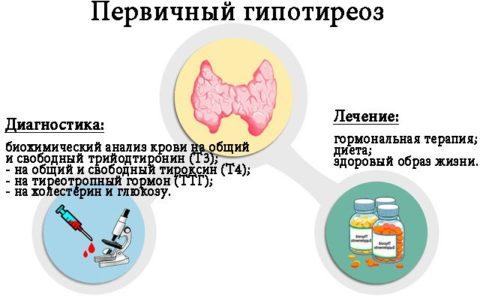 Дефицит гормонов быстро приводит к развитию гипотиреоза