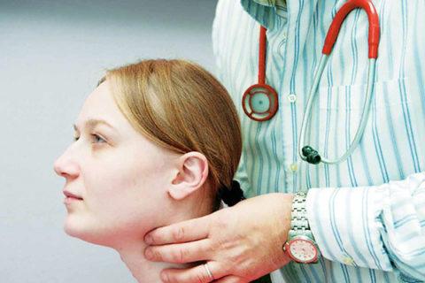Пальпация щитовидных хрящей