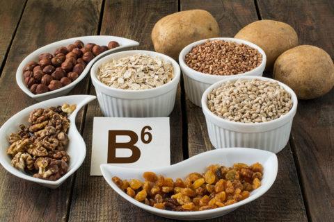 Продукты питания с высоким содержанием витамина В6.