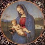 Рафаэлло Санзио «Мадонна»: зоб у женщины, нечто выпученные глаза.