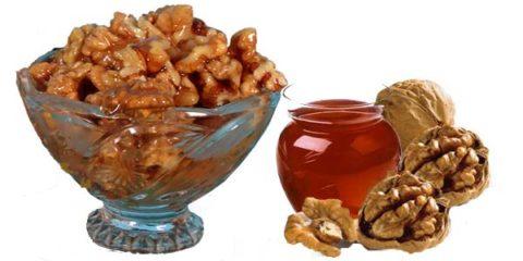 Смесь грецких орехов и меда весьма полезна для здоровья щитовидки