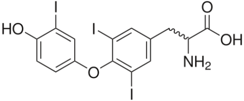 Структурная формула трийодтиронина