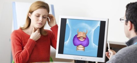 Дискомфорт или боль в нижней части шеи указывают на заболевание щитовидной железы